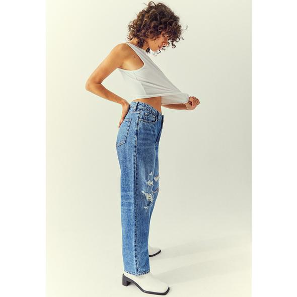 High Waist Straight Leg Jeans
