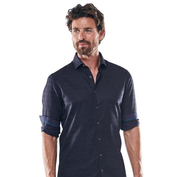 Gemustertes Langarmhemd aus Baumwolle
