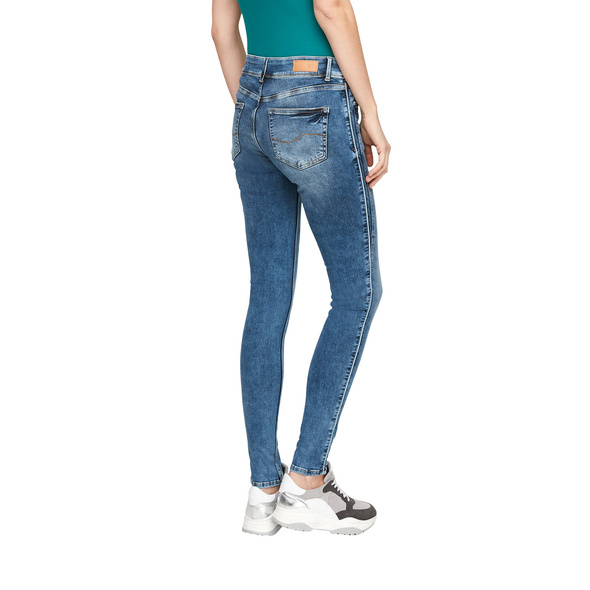 Skinny Fit: Stretchjeans mit Paspel - Jeans