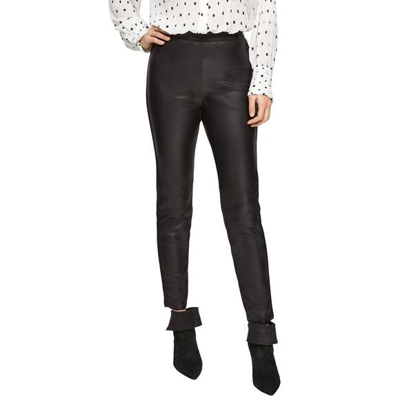 Leggings mit Fake-Leather-Coating - Stretchleggings
