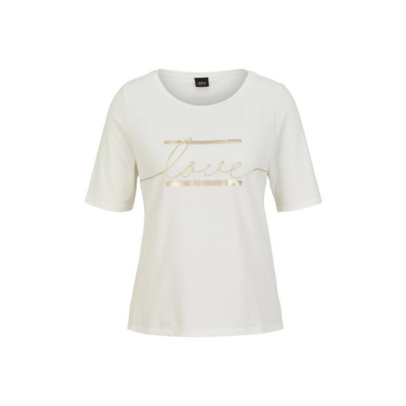 Jerseyshirt mit Statement-Print - Jerseyshirt