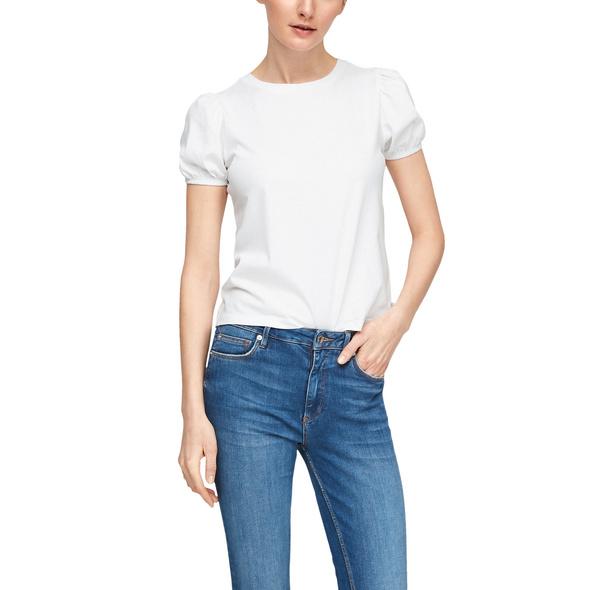 Jerseyshirt mit Puffärmeln - T-Shirt
