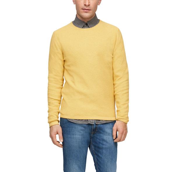 Pullover mit Rollsaumblende - Feinstrickpullover