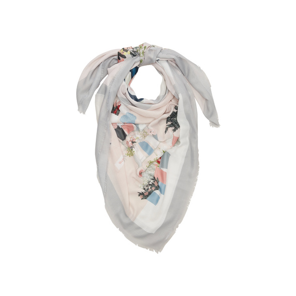 Tuch mit floralem Mustermix - Webware-Tuch