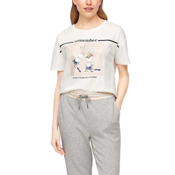 T-Shirt mit beidseitigem Print - Jerseyshirt