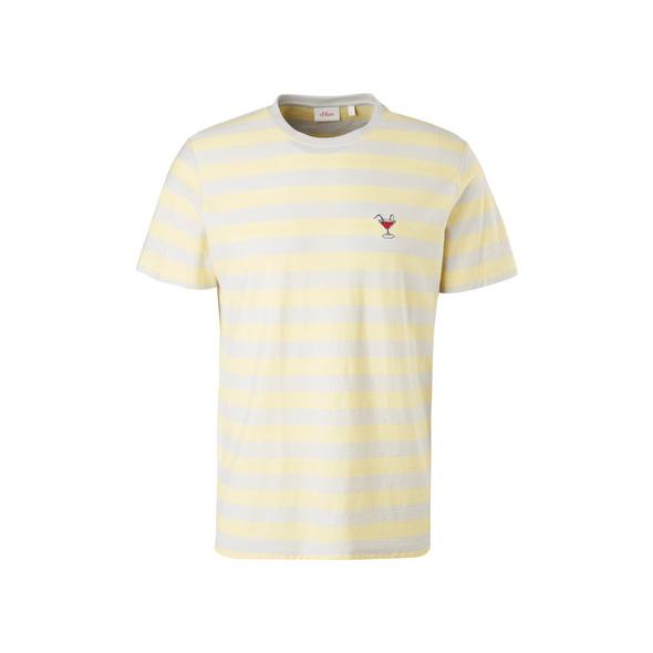 Streifenshirt mit Stickerei - T-Shirt