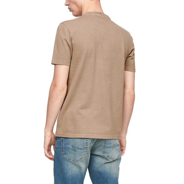 Henleyshirt aus Piqué - Poloshirt