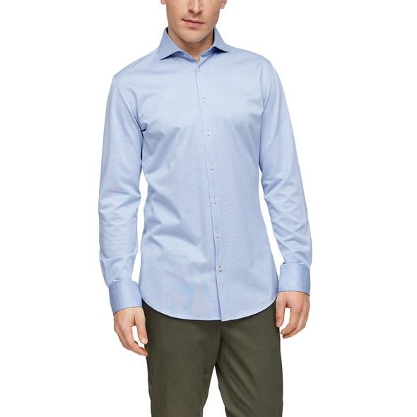 Slim: Hemd aus Interlockjersey - Hemd