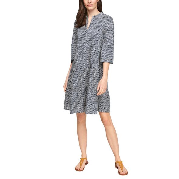 Stufenkleid mit Tunika-Ausschnitt - Kleid