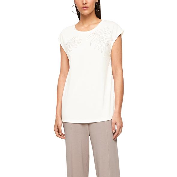 Jerseyshirt mit Ausbrennermuster - Jerseyshirt