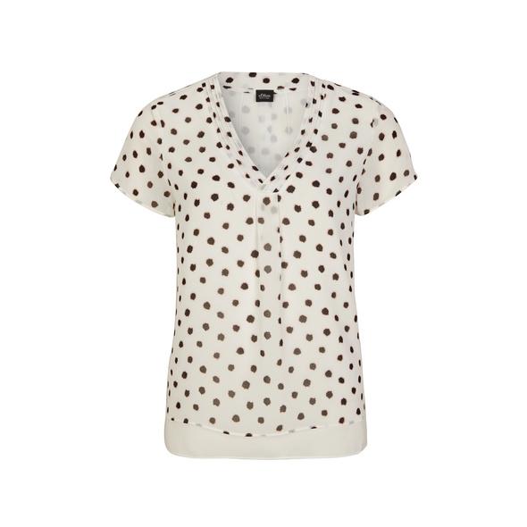 Layering-Bluse mit Punkten - Kurzarmbluse