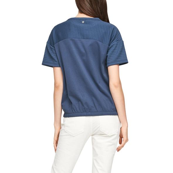 Jacquard-Shirt mit Tunnelzug - Sweatshirt