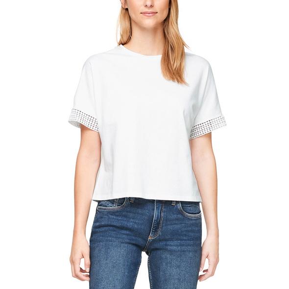 Jerseyshirt mit Häkelspitze - T-Shirt