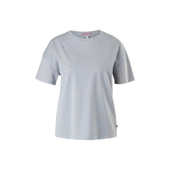 Jerseyshirt mit Schmucksteinen - T-Shirt