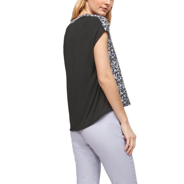 Jerseyshirt mit Blusenfront - Fabricmix-Shirt