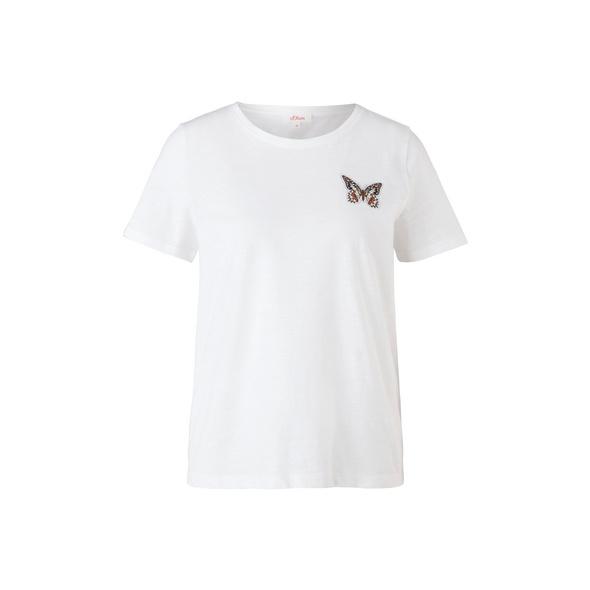 Flammgarnshirt mit Artwork - T-Shirt