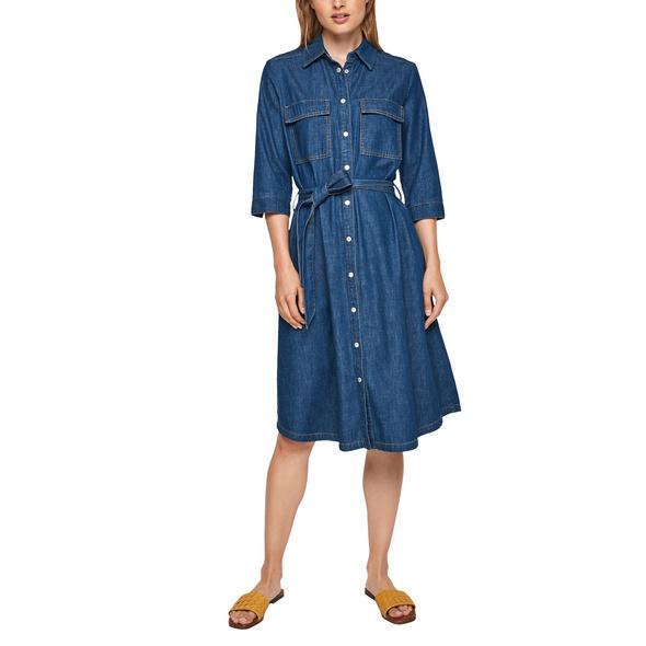 Jeanskleid mit Bindegürtel - Jeanskleid