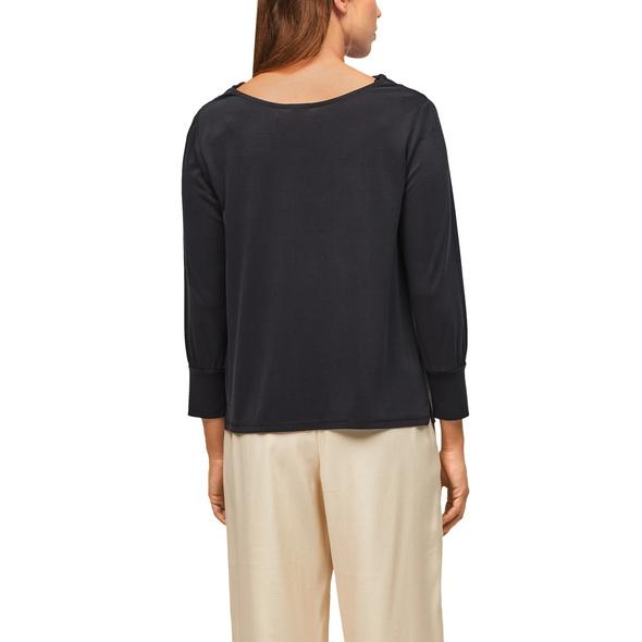 Shirt mit Wasserfallausschnitt - Modalshirt