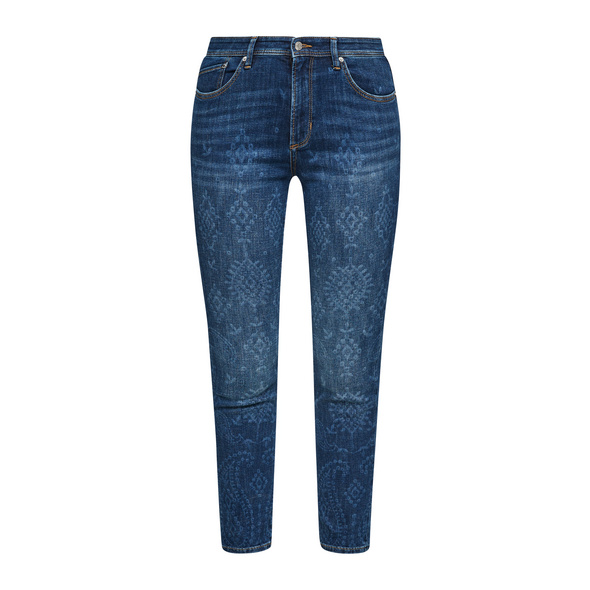 Slim: Jeans mit Paisley-Waschung - 7/8-Jeans