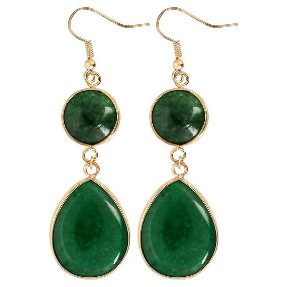 Ohrhänger - Green Agate