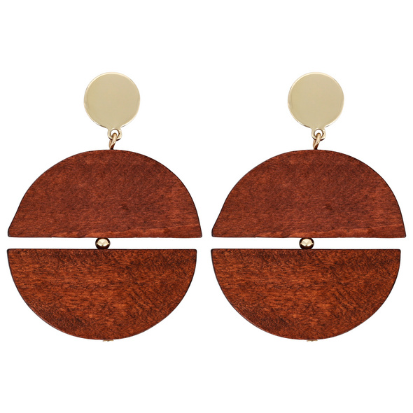 Ohrstecker - Duo Wood