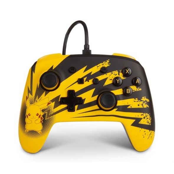 Nintendo Switch PowerA Wired Controller Pikachu Lightning