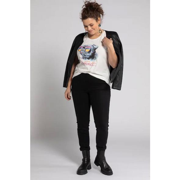 T-Shirt, Mops-Motiv, Oversized, Elasthan