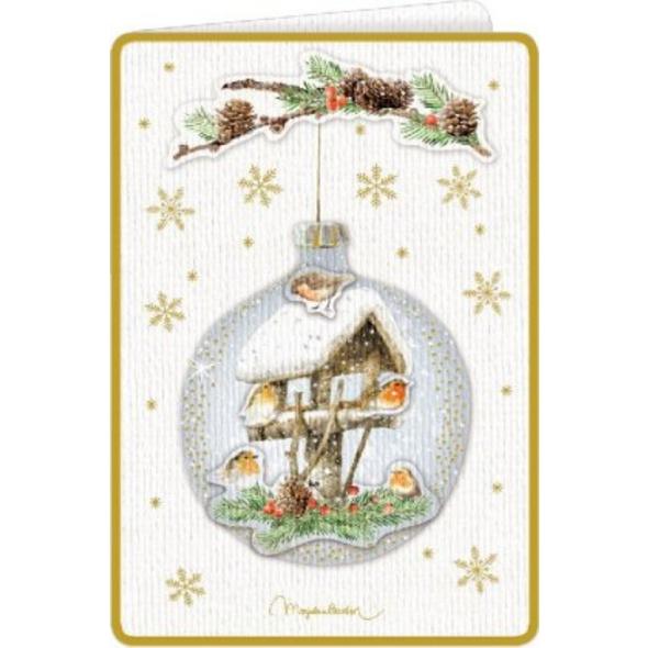 3D-Weihnachtskarten mit Kuvert - Zauberhafte Weihn