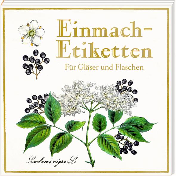Etikettenbüchlein - Einmach-Etiketten  Sammlung Au