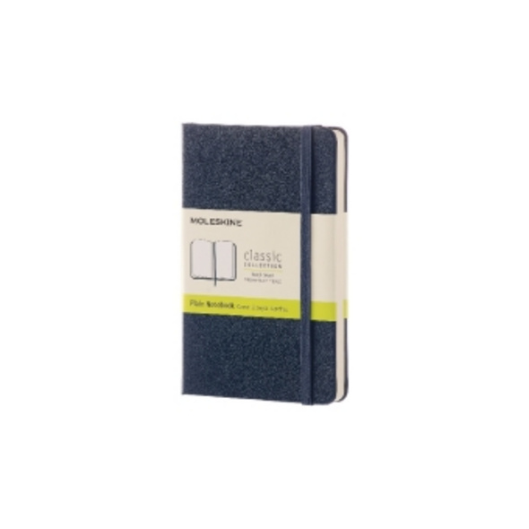 Moleskine Sapphire Blue Pocket Plain Notebook Hard