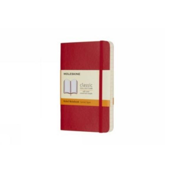 Moleskine Scarlet Red Pocket Ruled Notebook Soft