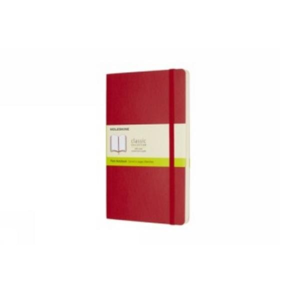 Moleskine Scarlet Red Large Plain Notebook Soft