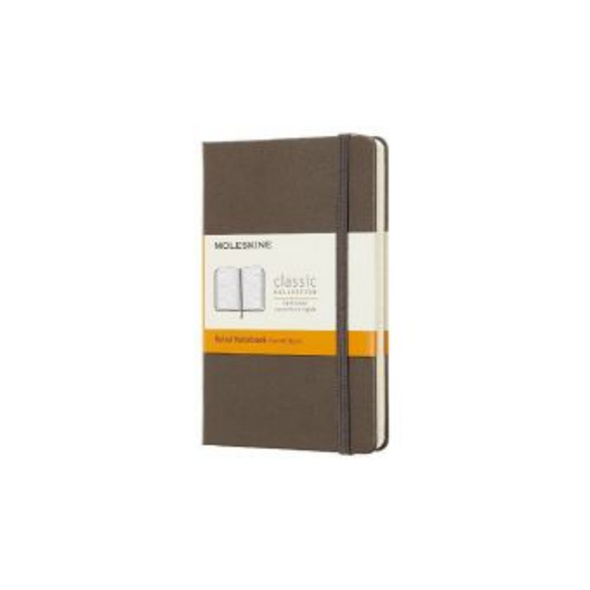 Moleskine Earth Brown Notebook Pocket Ruled Hard