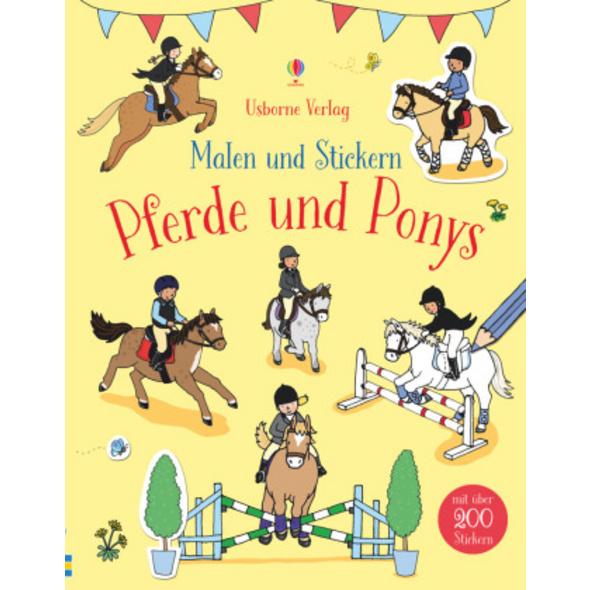 Malen und Stickern: Pferde und Ponys