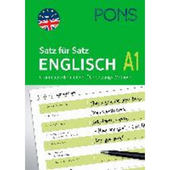 PONS Satz für Satz Englisch A1. Grammatik üben mit