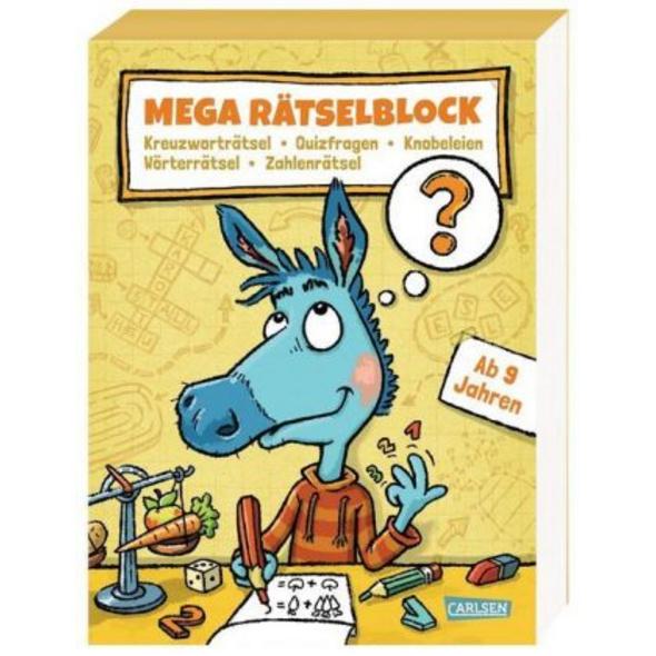 Mega Rätselblock - Kreuzworträtsel, Quizfragen, Kn