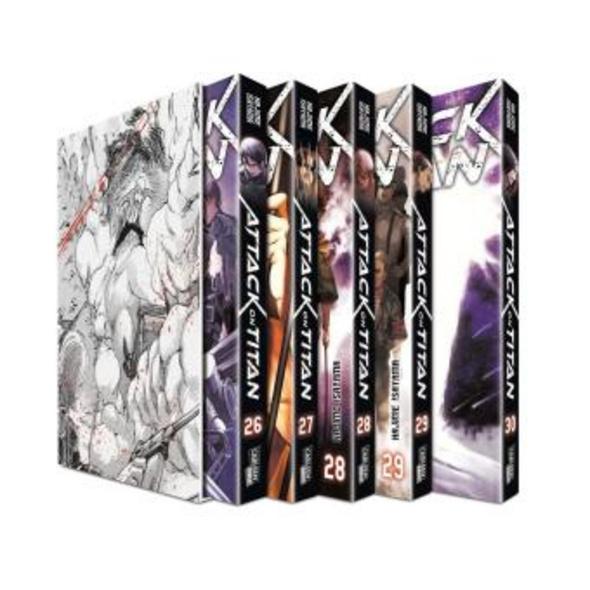 Attack on Titan, Bände 26-30 im Sammelschuber mit