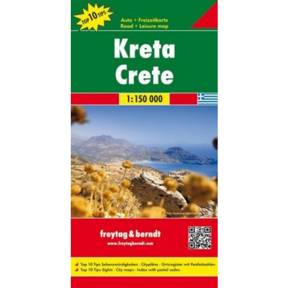Kreta, Top 10 Tips, Autokarte 1:150.00