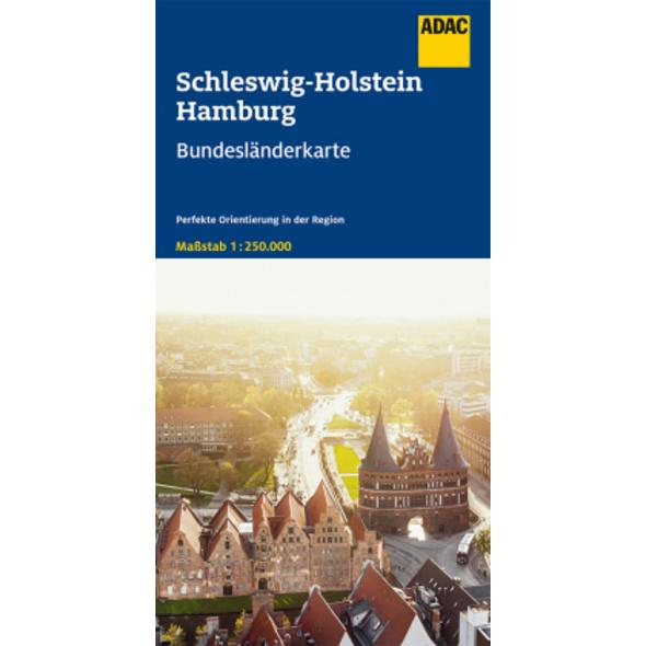 ADAC BundesländerKarte Deutschland Blatt 1 Schlesw