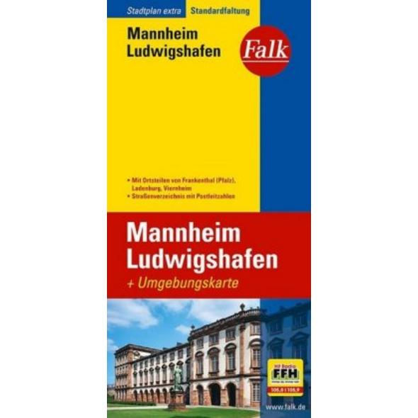 Falk Stadtplan Extra Standardfaltung Mannheim   Lu