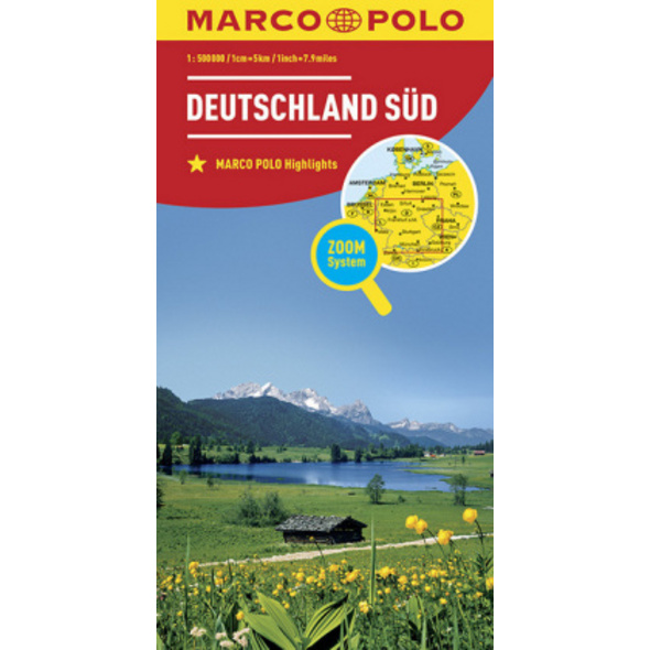 MARCO POLO Länderkarte Deutschland Süd 1:500 0000