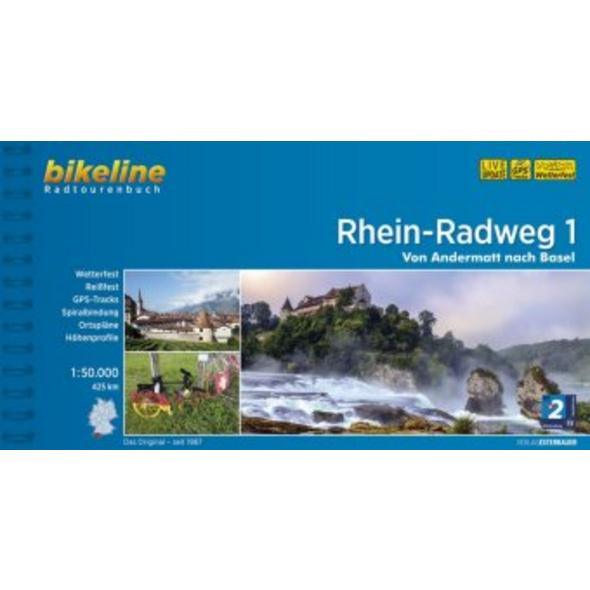 Bikeline Radtourenbuch Rhein-Radweg 01: Von Anderm