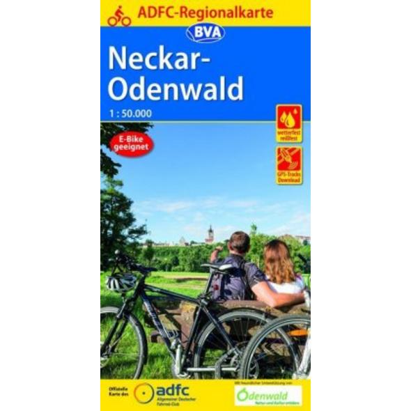 ADFC-Regionalkarte Neckar-Odenwald, 1:50.000, reiß