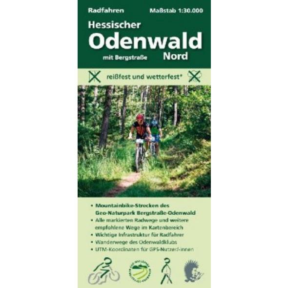 Radfahren, Hessischer Odenwald Nord mit Bergstraße