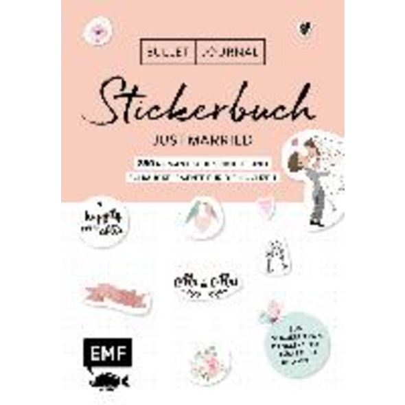 Bullet Journal - Stickerbuch Just married: 850 rom