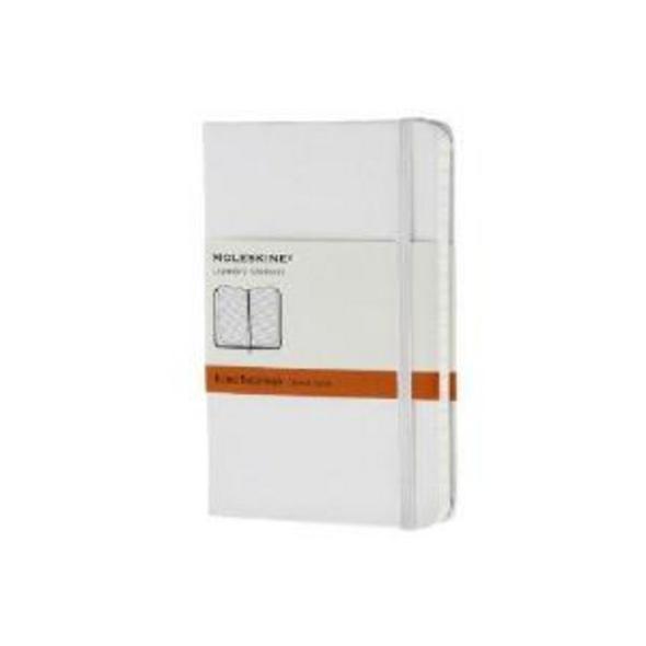 Moleskine White Pocket Ruled Notebook Hard