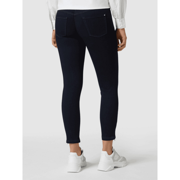 Cropped Skinny Fit Jeans mit Stretch-Anteil