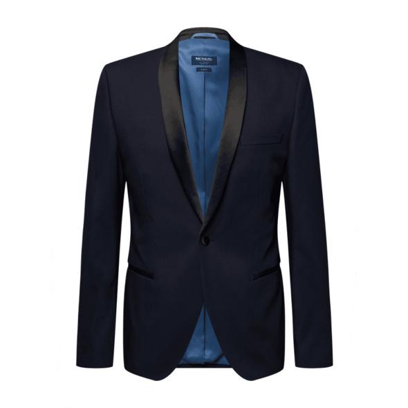 Slim Fit Smoking-Jacke mit Schalkragen