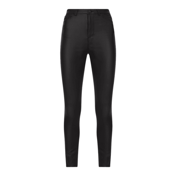 Skinny Fit Hose mit Beschichtung Modell 'Loa'