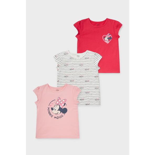 Multipack 3er - Minnie Maus - Kurzarmshirt - Bio-Baumwolle